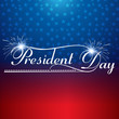 Presidents day background united states stars illustration vecto