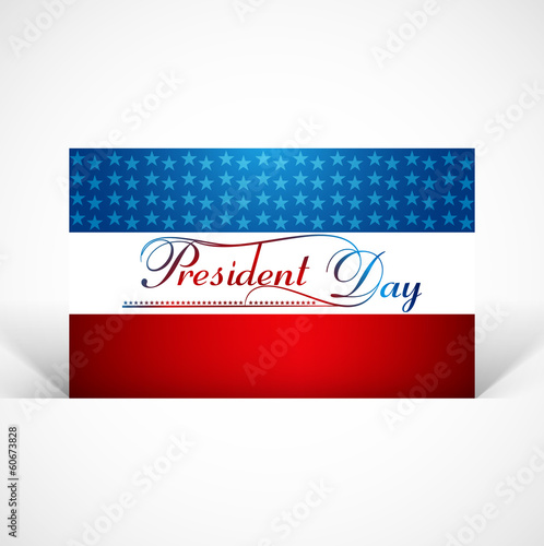 Beautiful united states flag Presidents day background vector