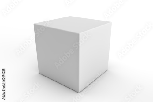 cube square white blank packaging design