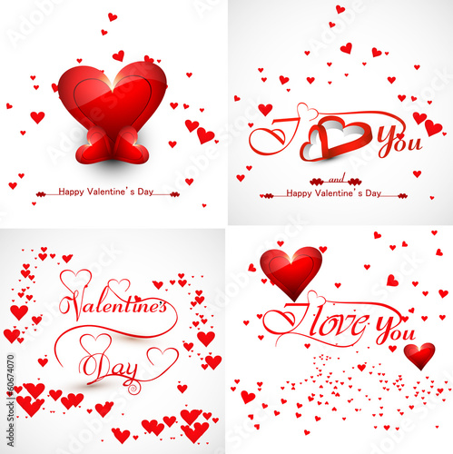 Vector beautiful hearts colorful for valentine's day collection