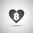 I Love Bitcoins - Bitcoin Sign Design