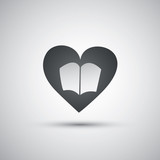 I Love Reading - Book Icon Design