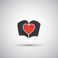 I Love Books - Book Icon Design