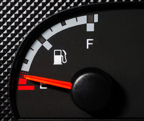 Car fuel gauge low