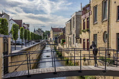 Canal and bridge in the center of Valkenburg - 60674891