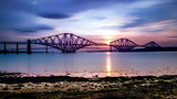 Forth Bridge at Sunset