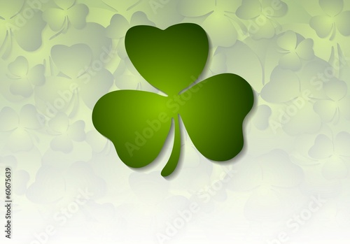 St. Patricks Day green vector background