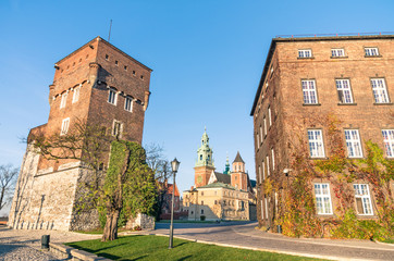 The Gothic Wawel Castle in Kraków