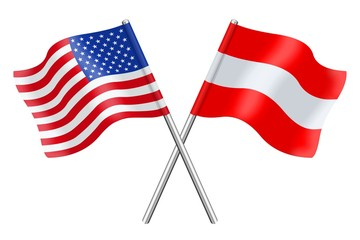Flags: the United States and Austria