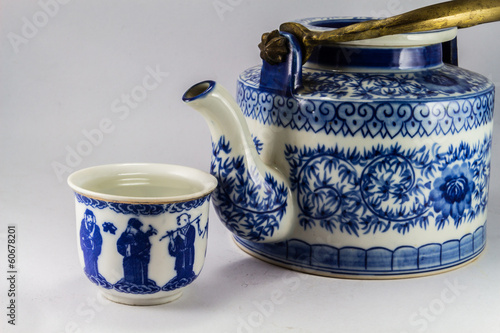 tea pot with tea in asia.