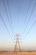 Power line in Qatar, Middle East