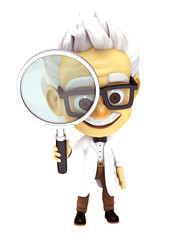 Professor with search glass