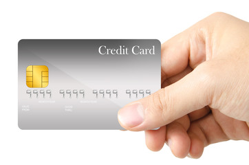 Showing credit card