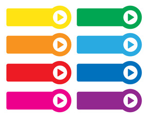 WEB BUTTONS POSTER (website arrows rainbow colours retro style)