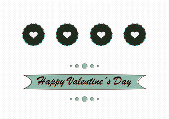 Retro love concept valentines day design