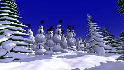 Schneemänner - 18 Sekunden Loop