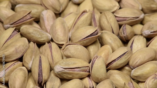 a pile of pistachios rotating slowly