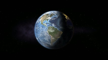 Earth rotation - day to night loop animation