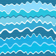 Seamless wave striped pattern