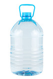 Plastic bottle of clear drinking water isolated