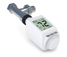 digital radiator thermostatic valve