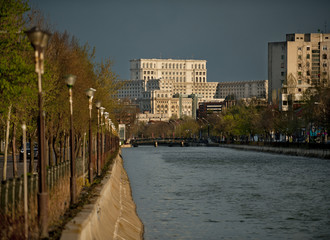 View towards Palace of the Peole in Bucharest