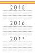 Простой Европы 2014, 2015, 2016 год вектор календарь. к 2015 году,аннотация,ежегодный,справочная информация,основные...