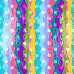 Colorful striped seamless pattern