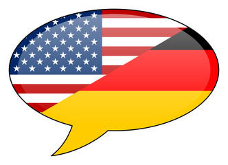 American German Speech Bubble Icon