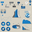 Vector, set of the 3d charts, pie charts and other infographic e