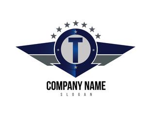 Letter T shield logo