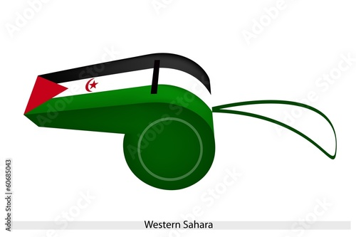 A Beautiful Whistle of Western Sahara Flag