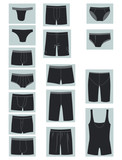 Icons of men's underwear