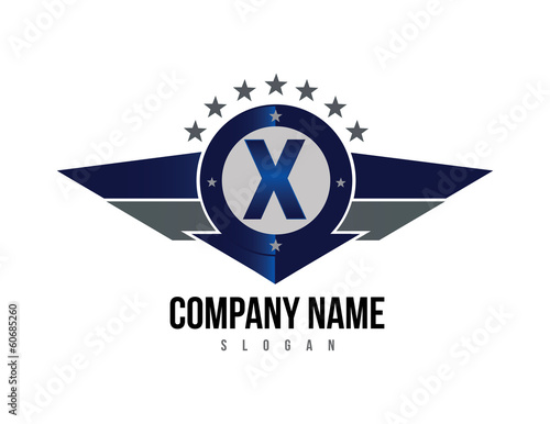 Letter X shield logo