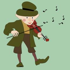 Merry violinist