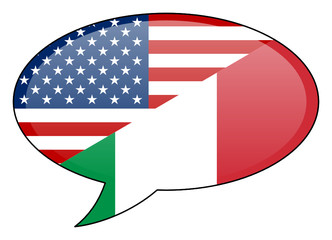 American Italian Speech Bubble Icon