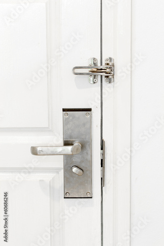Door locked with Doorknob
