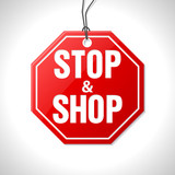 Stop and shop merchandise label poster