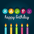 Colorful birthday card with candles