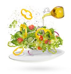 light salad of fresh vegetables