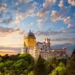 Fairy Palace against beautiful sky /  Panorama of  National Pala