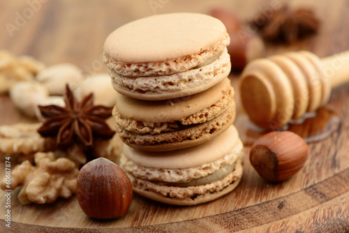 Macarons, Nüsse
