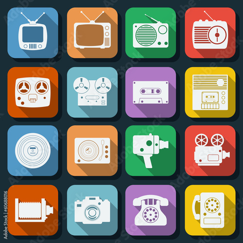 Flat web icons vector set 18