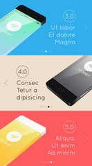 vector template presentation with phones