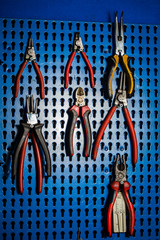 pliers in the workshop