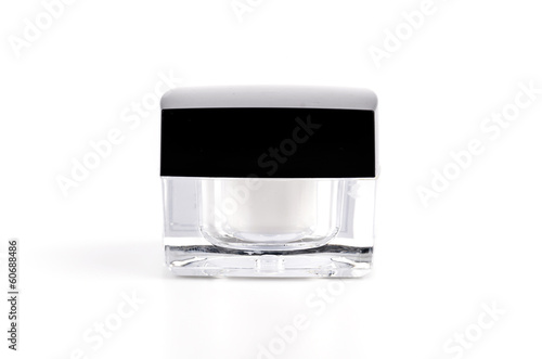 Blank cosmetic lotion bottle cream isolated white background