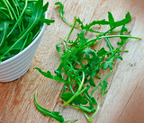 Green salad in a bowl ( ruccola - rucola)