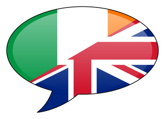 Irish British Speech Bubble Icon