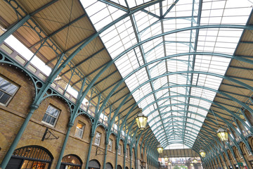 Roof of Covent Garden market in London, England