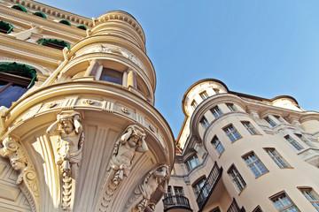 Stockholm, Sweden. Architectural details of the buildings